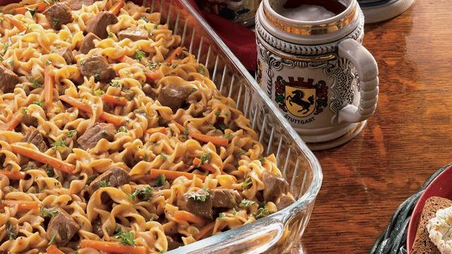 Sauerbraten Noodle Casserole