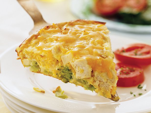 Impossibly Easy Chicken 'n Broccoli Pie