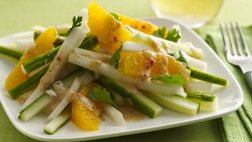 Gluten Free Spicy Jicama and Orange Salad