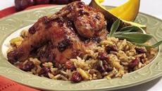 Cherry-Balsamic Cornish Hen with Rice Recipe