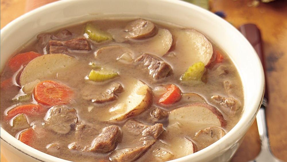 Slow-Cooker Hearty Steak and Tater Soup