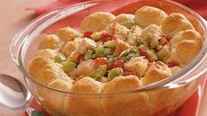 Hot Turkey Salad with Rosemary Biscuits Recipe