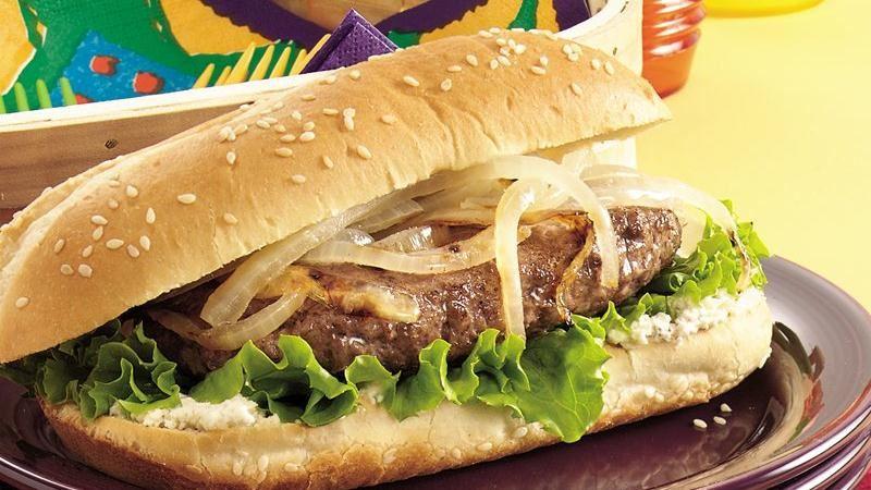 Grilled Hoagie Burgers