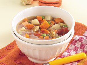 Slow Cooker Two-Potato Vegetable Soup