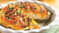 Ground Beef and Twice-Baked Potato Pie Recipe