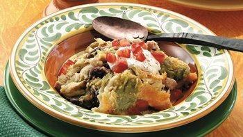 Slow-Cooker Ham and Chicken Enchilada Casserole