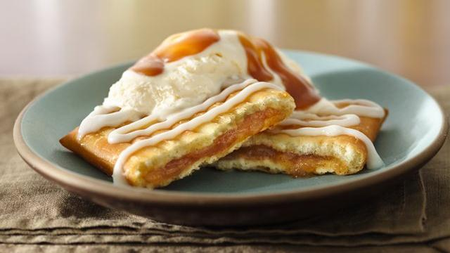 Image of Apple Toaster Strudel Sundaes With Caramel Topping, Pillsbury