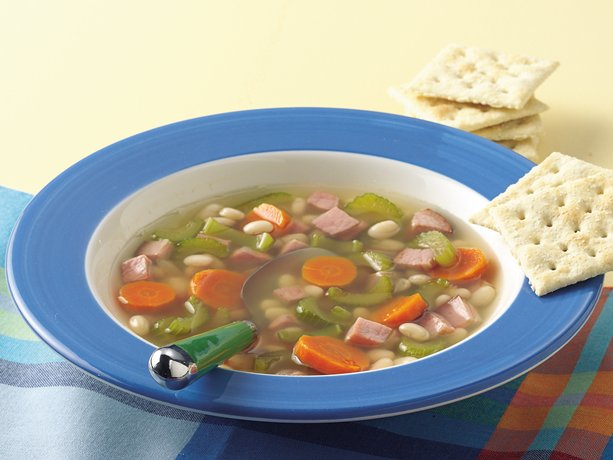 Slow Cooker Vegetable, Bean and Ham Soup
