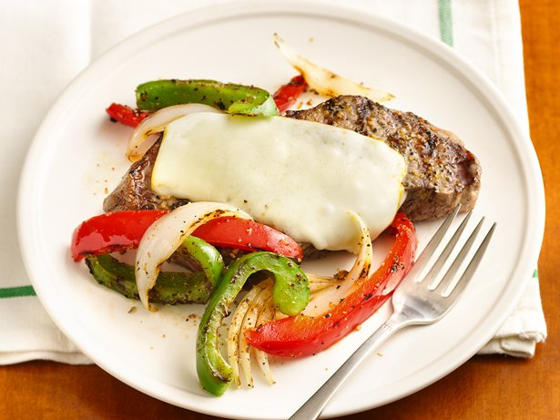 "Grilled ""Philly"" New York Strip Steaks"