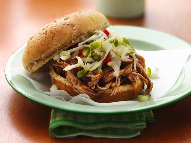 Slow-Cooker Carolina Pulled-Pork Sandwiches recipe from Betty Crocker