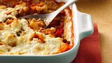 Three Cheese-Sausage Lasagna Recipe