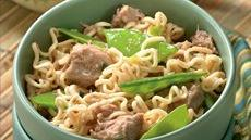 Gingered Pork and Ramen Noodles Recipe
