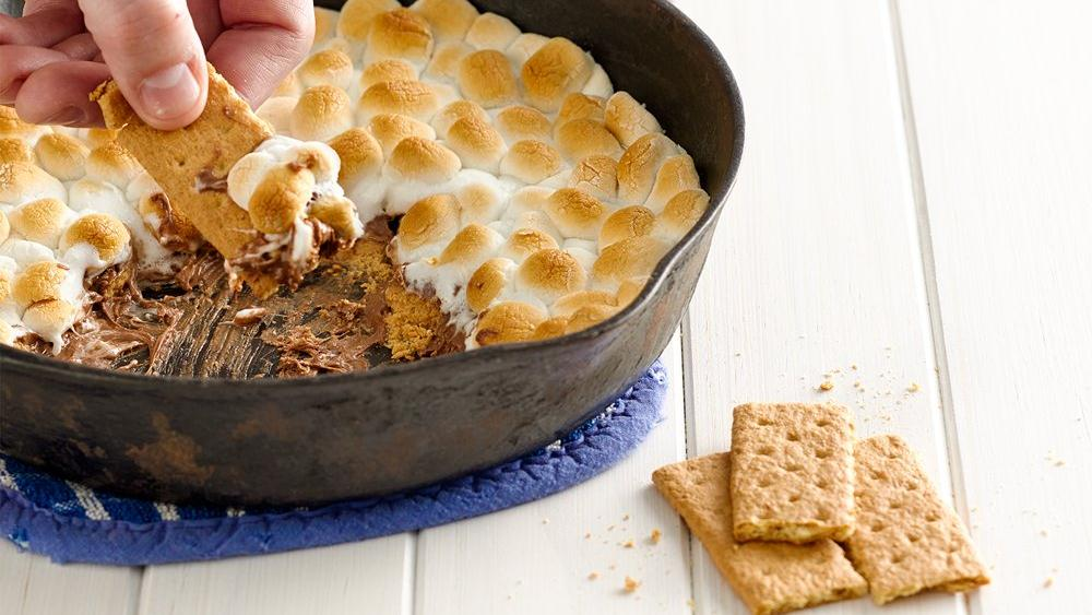 Peanut Butter Cup S'mores Dip recipe from Pillsbury.com