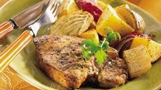 Roasted Pork Chops and Vegetables Recipe