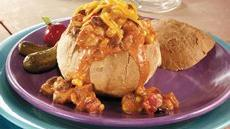 Santa Fe Chicken Bread Bowls Recipe