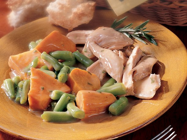 Slow Cooker Turkey and Sweet Potatoes
