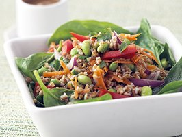 Healthified Thai Salad with Peanut Dressing