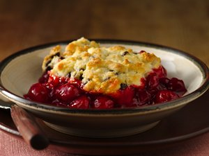 Gluten Free Chocolate Chip Cherry Cobbler