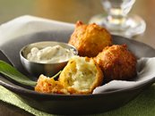 Potato and Sage Fritters with Lemon Aioli