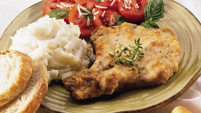 Caesar Pork Chops