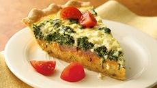 Spinach, Sausage and Feta Quiche Recipe