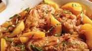 Peachy Chicken with Red Wine