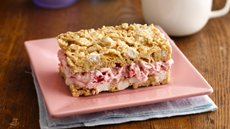 Strawberry Marshmallow Crisp Ice Cream Sandwiches Recipe