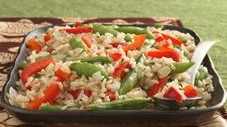 Gluten Free Sugar Snap Peas and Rice