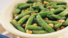 Honey-Nut Snap Peas Recipe