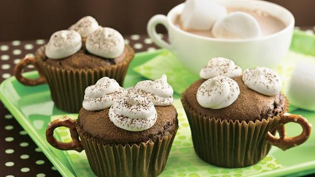 Hot Chocolate Cupcakes