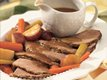 Slow Cooker Beef Roast and Vegetables with Horseradish Gravy