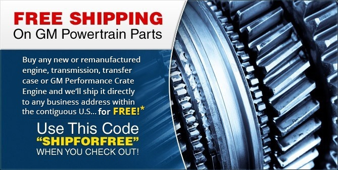Free Shipping on Powertrain Parts