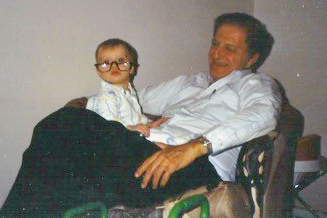 Dr. Sara Scarlet with her grandfather