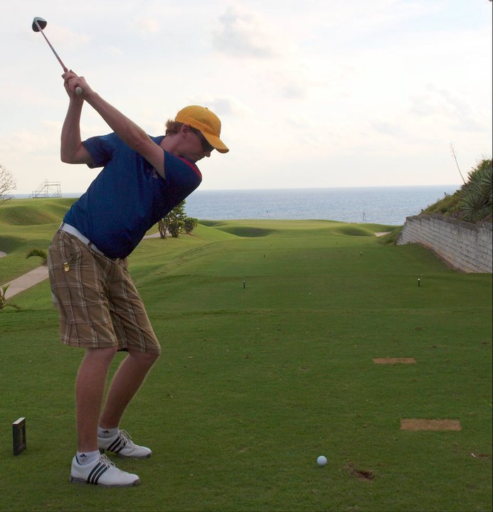 Stephen Wigington, Alberta Golf Coordinator, Competitions driving at the Port Royal Golf Course in Bermuda.