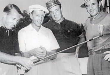 Gord da Laat (second from left) engaged with many golf icons during his career, including Sam Snead (far right), winner of 82 PGA TOUR events