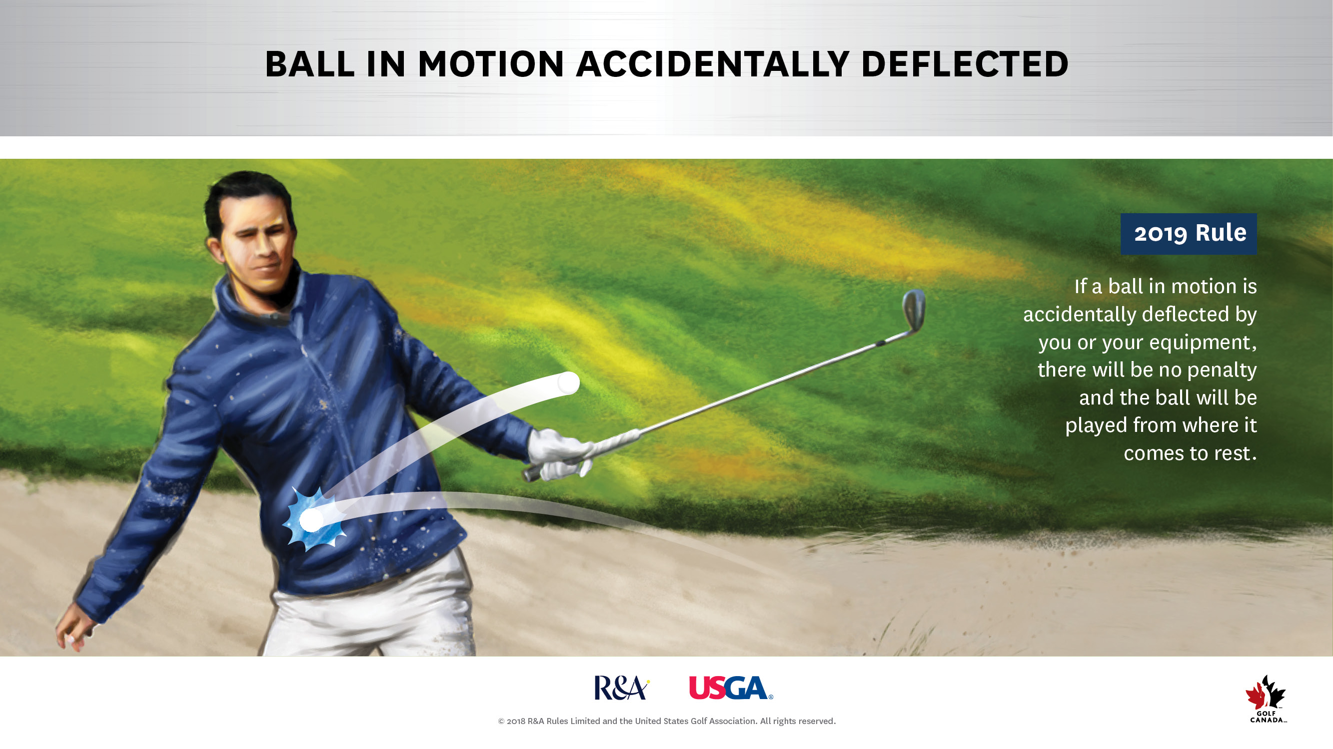 Ball in motion Rules of golf change for 2019