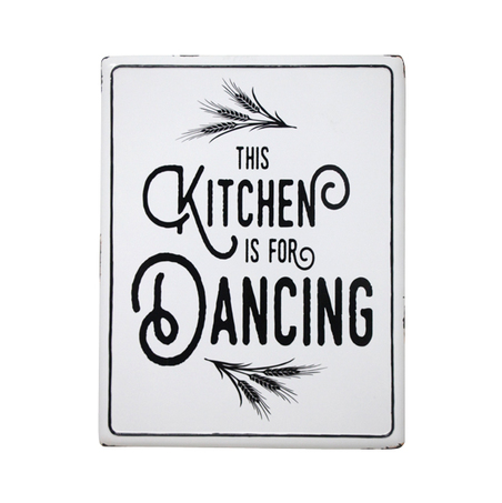 PLACA METAL KITCHEN WHITE 45,5X35,5X1,7CM