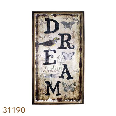 -QUADRO LINHO ANTIQUE DREAM OLDWAY 130x70x4cm