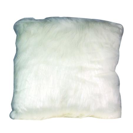 ALMOFADA PELO OFF WHITE 45x45cM