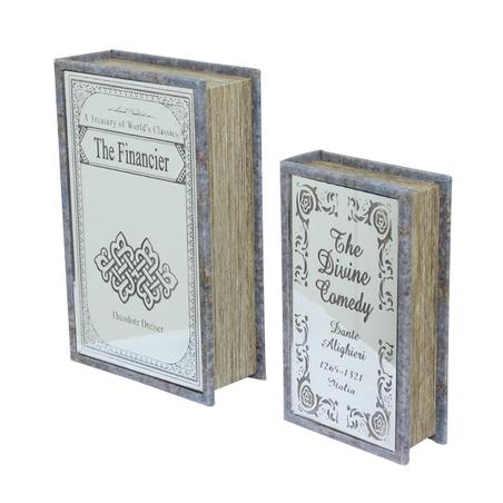 BOOK BOX CJ 2 PC COM ESPELHO THE FINANCIER 27x18x7cm