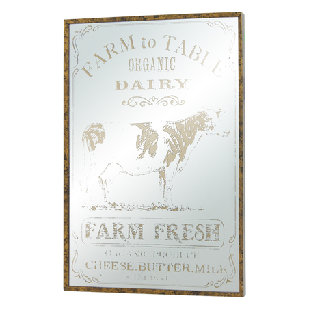 QUADRO ESPELHADO FARM TO TABLE OLDWAY 60x40x3,5cm