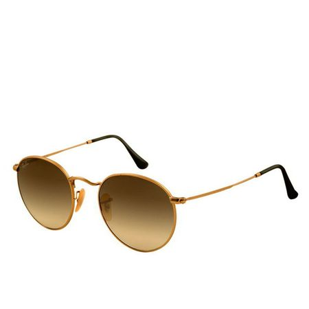 Ray Ban Lentes de Sol Ray Ban Round Metal Gold Brown Ray Ban