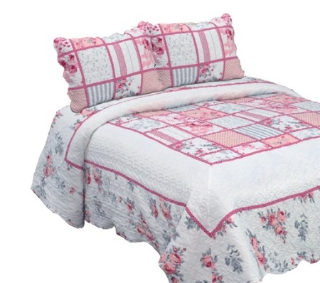 Queen size - Decorinter Cubrecama estampado Queen Size Bella