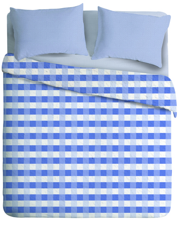 Casablanca Manta de polar Casablanca Damero Blue (Queen Size)