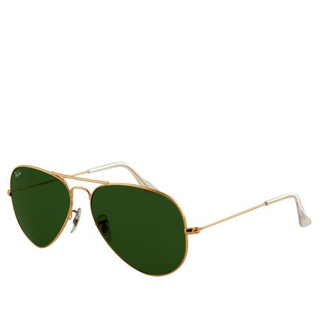 Ray Ban Lentes de Sol Ray Ban Aviador Large Metal Gold Green Ray Ban