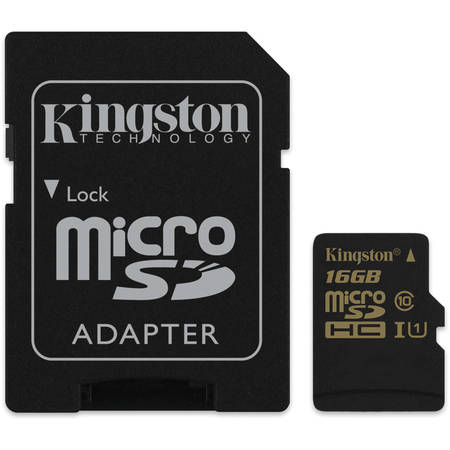 Kingston Tarjeta Kingston Micro SD Clase 10 UHS-1 90R/45W 16GB