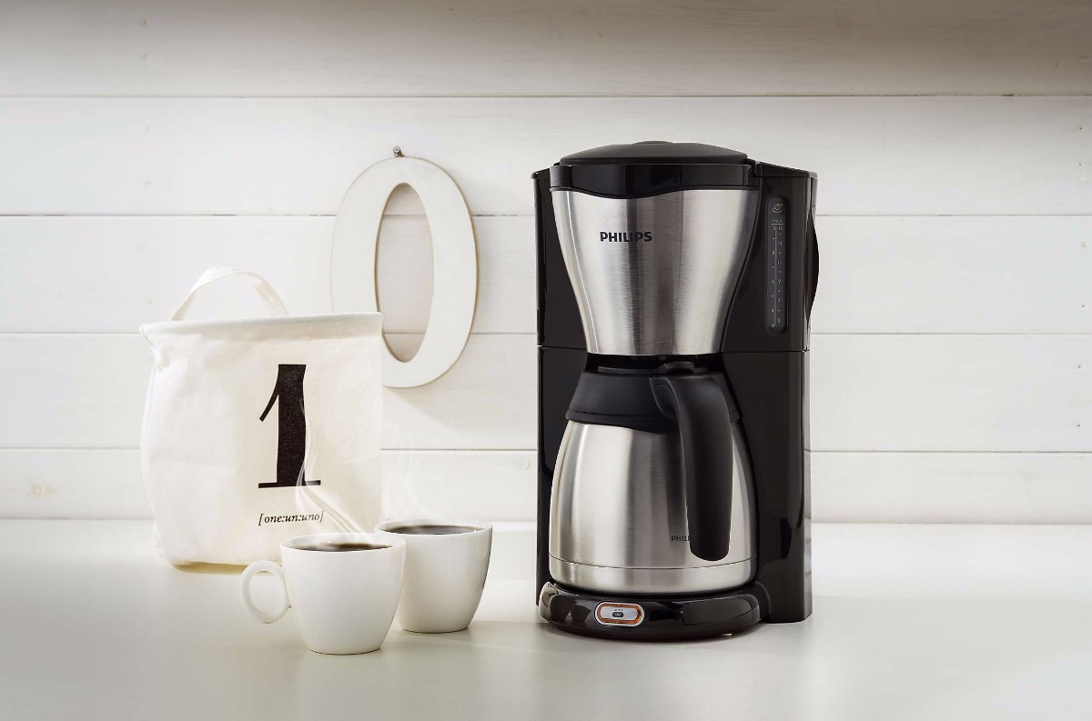 Philips Cafetera Philips 1.2lts Hd7546/20 Negra Acero Inoxidable