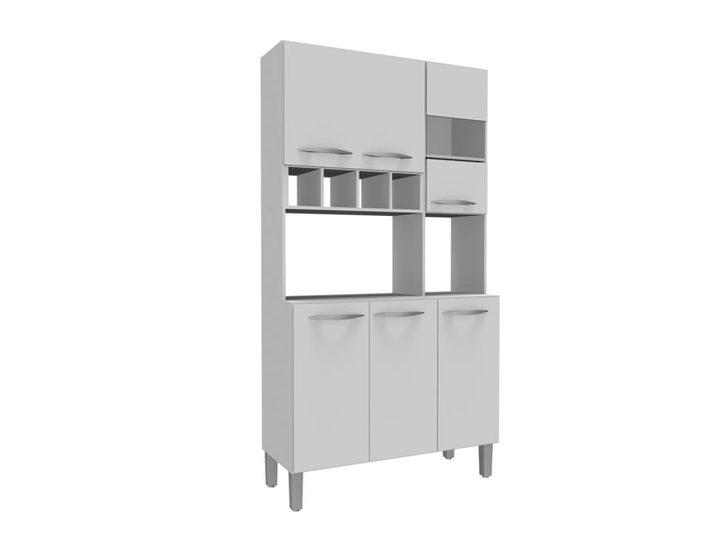 Kit de cocina 6 puertas 1 puerta de vidrio con estantes for Muebles de cocina con puertas de cristal
