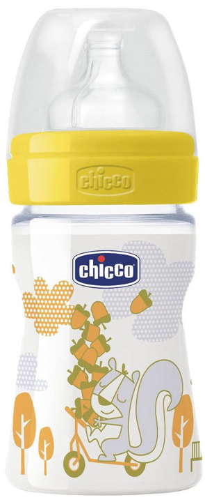 Mamaderas - Chicco Mamadera Chicco Wellbeing Fun 150 ml 2m+