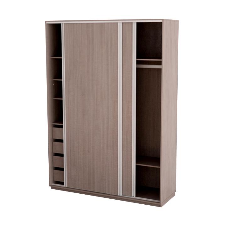 Placard con 2 puertas corredizas con 4 cajones y perfiles - Muebles con puertas corredizas ...